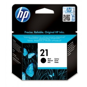 HP No.21 Black Inkjet Print Ca